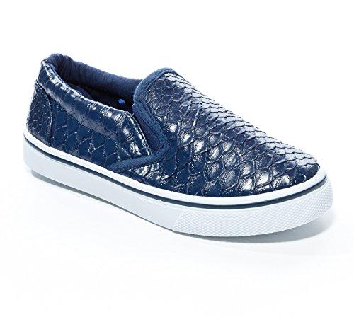 Pink Label Girls Slip-On Alligator Skin Sneaker