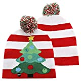 LED Light Up Christmas Beanie Colorful LED Knitted Hat for Children Indoor and Outdoor,Best Gift of Festival, Holiday,Celebration,Parties,Bar,Christmas