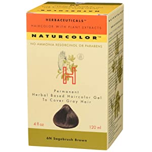 Naturcolor 6N Sagebrush Brown Hair Dyes, 4 Ounce