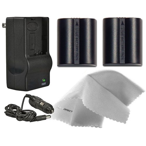 Panasonic Lumix DMC-FZ28K High Capacity Batteries (2 Units) + AC/DC Travel Charger + Nwv Direct Microfiber Cleaning Cloth.