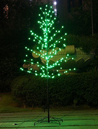 Bolylight 6ft Lighted Frosted Ball Tree 184L Bulb LED Decoration for Bedroom/Party/Office/Home, Green - Money Tree Bulbs