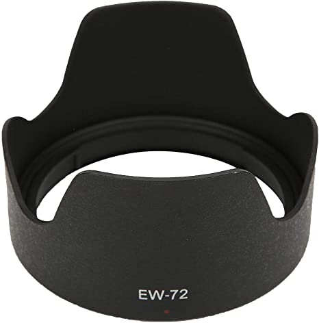 Bewinner Lens Hood,EW-72 Plastic Lens Hood Replacement for Canon EF 35mm f Rain and Snow to Some Extent 2.0 is USM,Prevents from Wind Sand