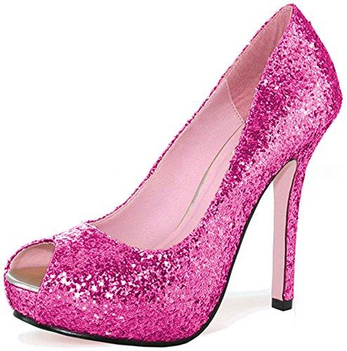 Ella Glitter Pumps Scarpe Per Adulti Fucsia - Taglia 7