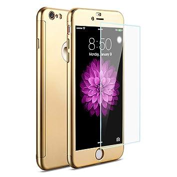 fd7ba460c0 Wonderlusia iPhone8 ケース 360度フルカバー 全面保護 強化ガラスフィルム おしゃれ 高級感 薄型