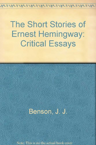 "about hemingways short stories essay Response to hemingway short stories essay  hemingway`s short stories ""indian camp"" and ""the end of something"" are very similar in terms of ."