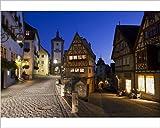 Photographic Print of Ploenlein, Siebers Tower, Rothenburg ob der Tauber, Franconia, Bavaria