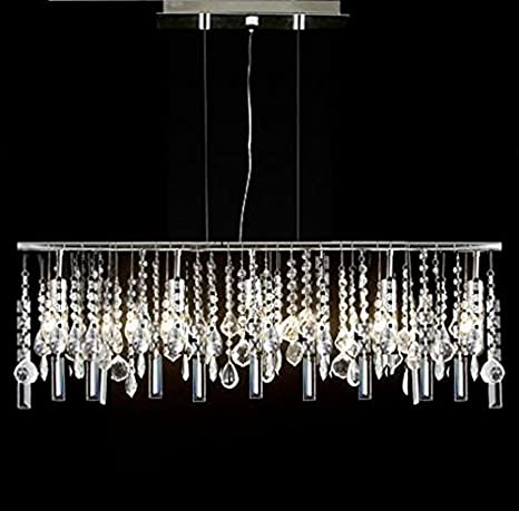 Modern contemporary linear chandelier lighting lamp w crystal h58 modern contemporary linear chandelier lighting lamp w crystal h58quot aloadofball Choice Image