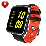 Smart Watch,Willful SW018 Bluetooth Smartwatch IP68 Waterproof Sport Fitness Watch with Heart Rate Monitor Pedometer Sleep Monitor SMS App Notice Alarm Clocks for iPhone IOS Android Phones (Red)