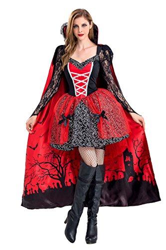 MAKE CHEERFUL 吸血鬼 女王 ヴァンパイア コスプレ 衣装 レディース