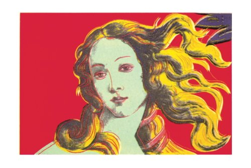 Lithograph Art Rare (Rare Posters 2000 Andy Warhol Birth of Venus, Red Poster)