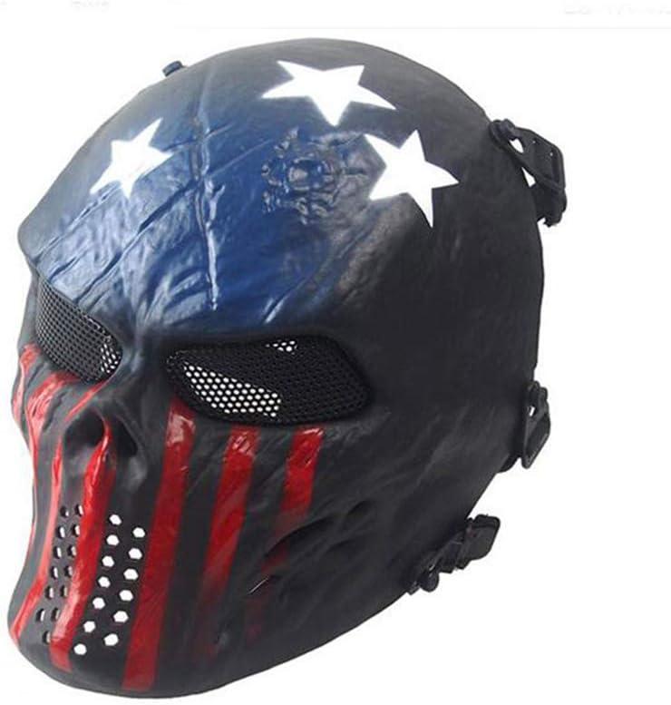 ATAIRSOFT Tactical Airsoft Paintball CS Protect Full Face Malla de Metal para Halloween Cosplay Hockey BB Iron Masquerade