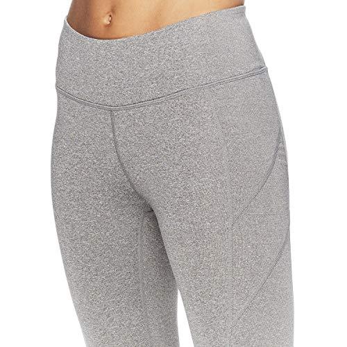 Reebok Women's Leggings Full Length Performance Compression Pants - Athletic Workout Leggings for Women for Gym & Sports - Grey Dawn Heather, Medium