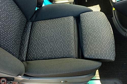 W910 ab 2018 Individuell gefertigt Bezug Fahrersitz und 2er Beifahrersitzbank Stoffart Trend-Line mit Schwarzer Lamelle. BUS-EJP Passgenaue Sitzbez/üge f/ür Sprinter III VS30 W907