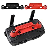 Kuuqa 2 Pcs Upgrade Version Transmitter Controller Stick Thumb Protective Clip Rocker for Dji Mavic Pro,Red and Black (DJI mavic not included)