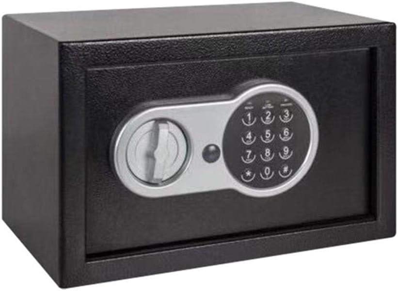 電子金庫 ジュエリー金貴重なデジタル金庫、電子セーフティボックスを備えた電子キーパッド 金庫 テンキー式 電子金庫 (Color : Black, Size : 31x20x20cm)