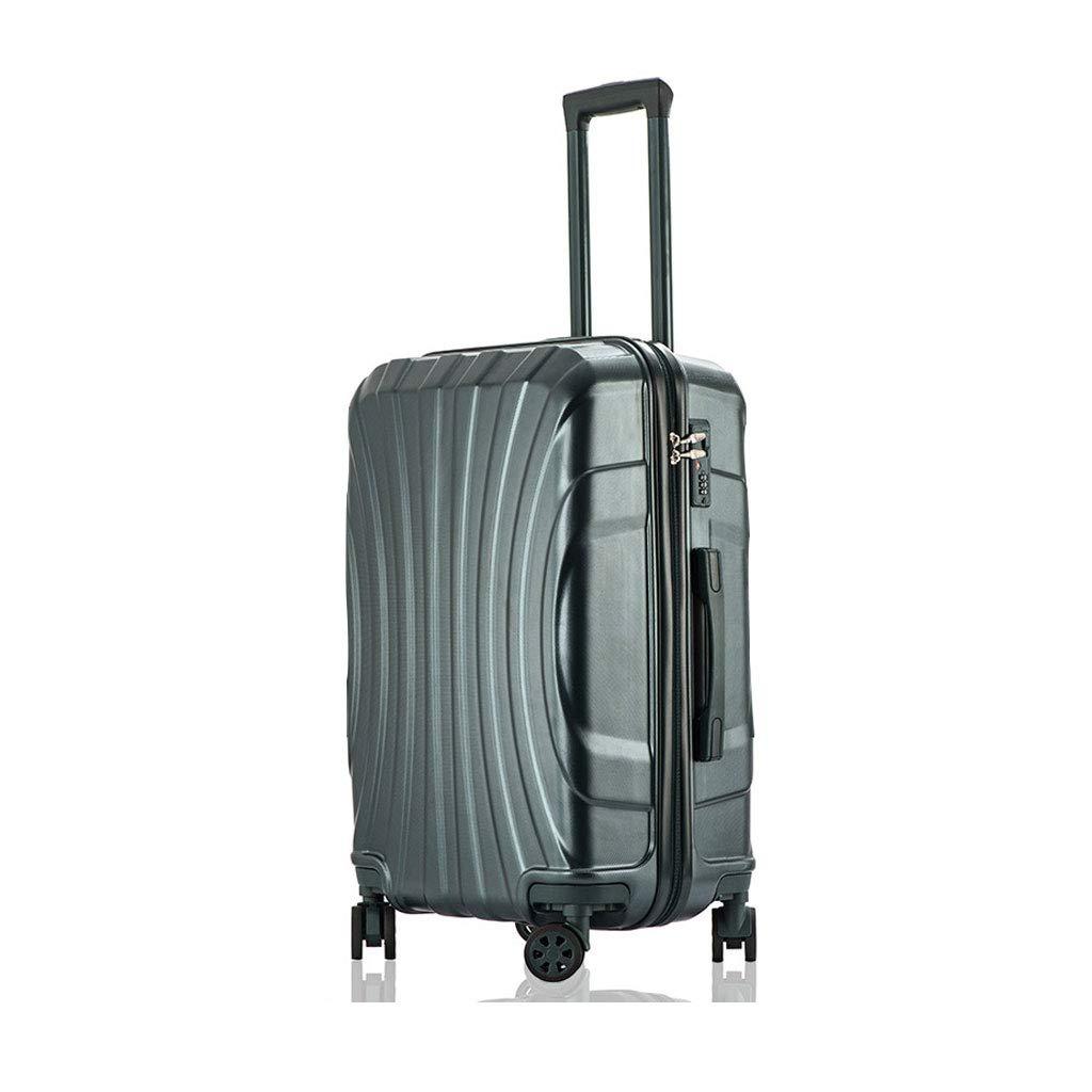 軽量の傷防止のABS堅い貝旅行トロリーは4つの車輪が付いている小屋手の荷物のスーツケース、38 * 25 * 57 cmを続けていきます  dark green B07MJP2PWT