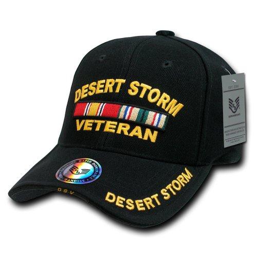 - Rapiddominance Deluxe Military Cap, Desert Storm Vet/Black