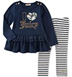 Kyпить Juicy Couture Toddler Girls' Tunic Legging Set, White/Medieval Blue, 3T на Amazon.com