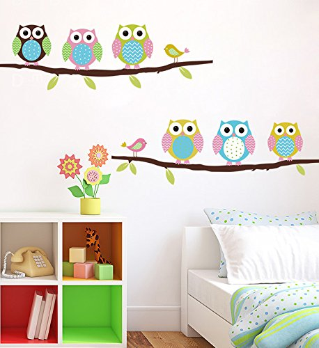 Free Shipping Cartoon Children's Room Bedroom Walls Painted Decorative Sticker Cute Owl Animal Wall Stickers Parlor Kids - Ban About Ray