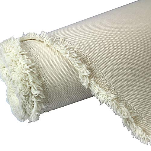 (Waterproof Canvas Fabric Outdoor 600 Denier Indoor/Outdoor Fabric by the yard PU Backing W/R, UV, 2times GOOD PU Color : Ivory 10 yards)