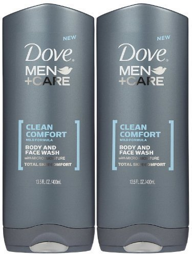 Dove Men + Care Body & Face Wash, Clean Comfort 13.50 oz (Pack of 2) (Best Dove Body Wash Reviews)