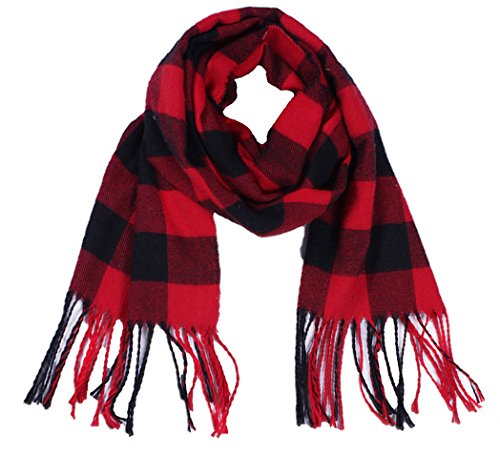 Wander Agio Kids Scarf Warm Shawls Scarves Parent-child Scarf Womens Plaid Small Scarfs Red Black