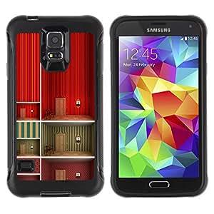 WAWU Rugged Armor Slim Protection Case Cover Shell -- art minimalist wallpaper deep design -- Samsung Galaxy S5 SM-G900
