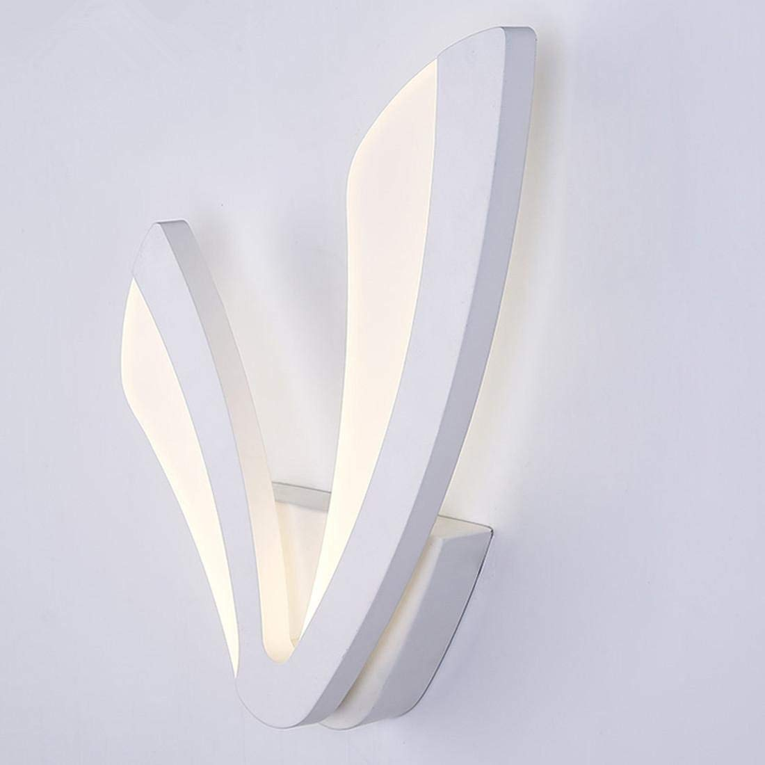 OVIIVO Creative Table Lamp Desk Lamp LED Wall Lamp for Bathroom Bedroom 12W Wall Sconce White Indoor Lighting Lamp AC100-265V LED Wall Light Indoor Lighting, Using for Reading, Working