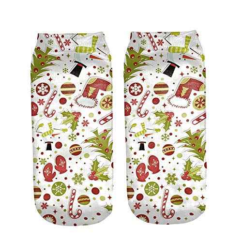 HEHEM Christmas Socks Christmas Breathable Warm Socks Owl Cute Casual Work...