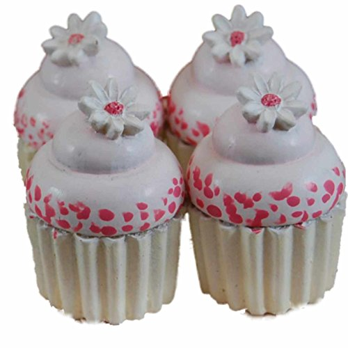"""Price comparison product image 4 Piece Mini Cupcakes Packaged with Authentic Bakery Box. Cupcakes Perfectly Sized for 18"""" American Girl Doll Furniture,  Pastry Bake Shop & Play Food Accessories"""