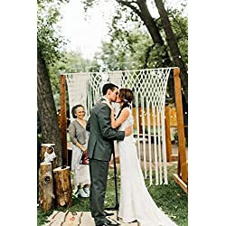 Decor for Arbors and Arches at Ceremonies and Receptions Yarn Macrame Wedding Hanging