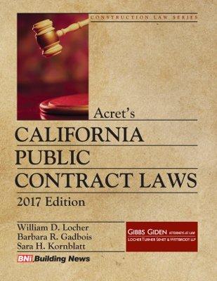 Acrets California Public Contract Laws 2017