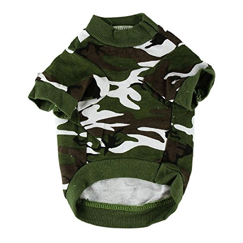 ot Sale! 2017 New Pet Dog Cat Camo Clothing Hoody Apparel Puppy Doggy Camouflage Coat T-shirt (L, Green) (Camouflage Camo New T-shirt)