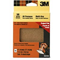 3M 99220NA 4.5-Inch by 5.5-Inch Clip-On Palm Sander Sheets