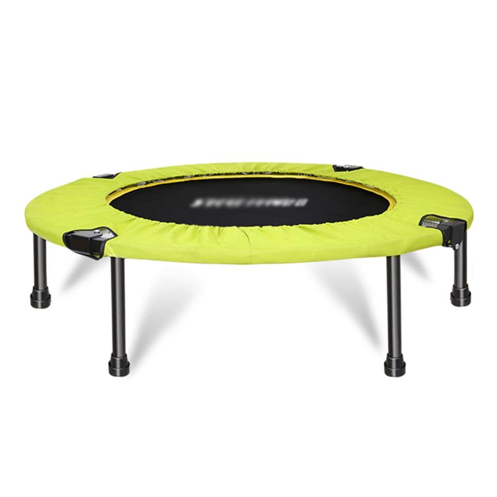 Übungs-Trampolin Gartentrampoline Heimtrainings rundes Sprungbett Trampolin für Erwachsene Mini-Trampolin Einzel-Bungee-Sprungbett, Tragfähigkeit von etwa 120 kg Trampoline