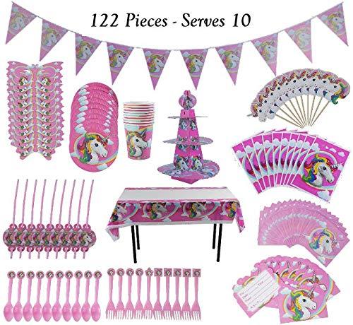Unicorn Party Supplies Kit - Magical Rainbow Theme