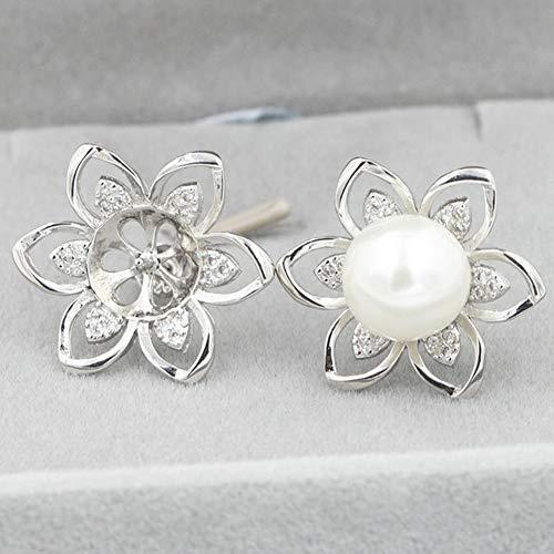 Jewelry Mountings - HENGSHENG 3 PCS Flower Shape Vintage Earrings Fittings Pearl Drop Earrings Mountings(DO NOT Include Pearls)