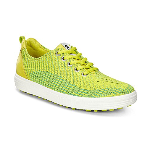 ECCO Women's Casual Hybrid Knit Golf Shoe, Lime Punch/Toucan Neon/Sulphur, 41 EU/10-10.5 M US