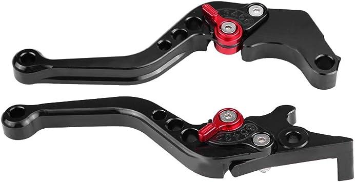 Qillu Set leve freno e frizione per Moto Bicicletta Nero 13-18 Impugnatura leva freno corta frizione moto per Grom MSX125