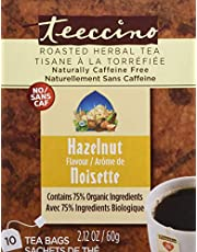 Teeccino Hazelnut Flavoured Herbal Coffee, 10 Count