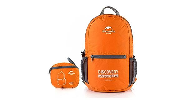 Orange/&aztec middle size rolltop backpack