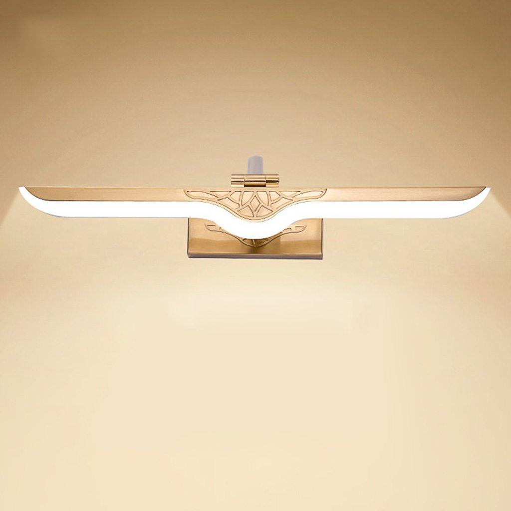 badezimmerlampe Led Spiegel Scheinwerfer, einfache Make-up Lichter Badezimmer Europäischen Stil Spiegel Schrank Lichter Bad Licht (Größe   11w 55cm)