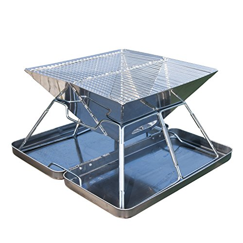 OuterEQ Portable Lightweight Folding Charcoal BBQ Grill Camp