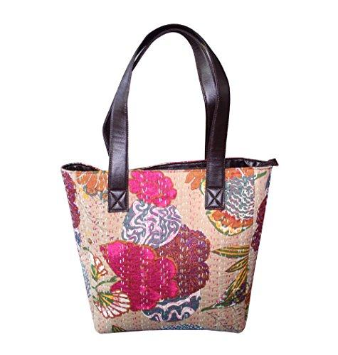 Kantha Cotton Bag - Sac à bandoulière Sac à bandoulière Messenger Bag Satchel Set