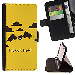 For Samsung Galaxy S6 EDGE (NOT S6) Plus / S6 Edge+ G928 Case , Palo de Halloween Treat Trick- la tarjeta de Crédito Slots PU Funda de cuero Monedero caso cubierta de piel