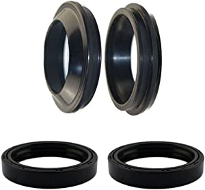 AHL Front Fork Shock Oil Seal and Dust Seal Set 46mm x 58mm x 11mm for Kawasaki ZX900 ZX-9R 900 1998-2003