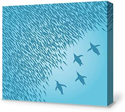 A School of Fish Pictures Home Wall for Bedroom Living Room Paintings Framed