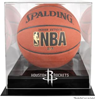 d67b29d728c7 Houston Rockets Black Base Logo Basketball Display Case and Mirror Back