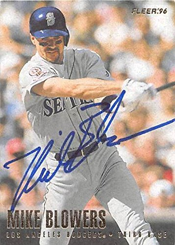 Autograph 223751 Seattle Mariners Los Angeles Dodgers 1996 Fleer No. 426 Mike Blowers Autographed Baseball Card (Seattle Mariners Autograph)