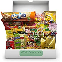 Over-sized World Snack Box (48 Count) | 9 full sized snacks + 39 global candies | Huge Assortment of Asian Snacks, European Treats, Central American Candy and more | Gift Care Package |
